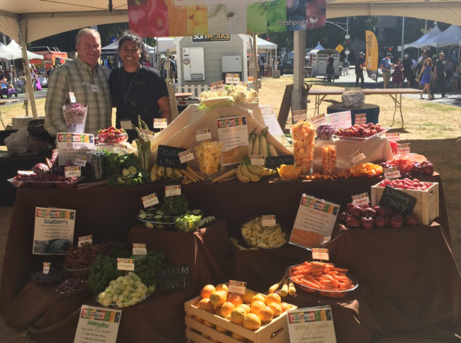 David Normoyle - Martha Gonzalez with Eat The Rainbow Display—FreshPoint Central California