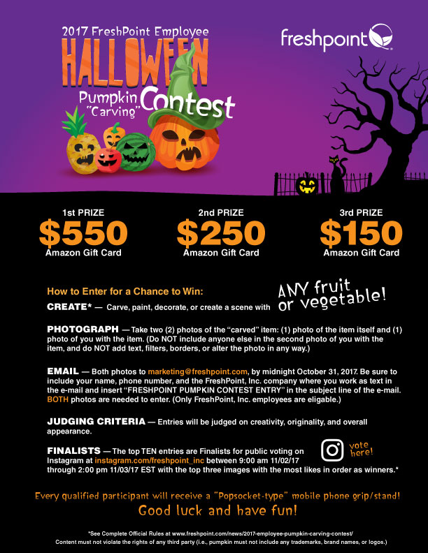 FreshPoint Employee Pumpkin Carving Contest 2017 Flyer