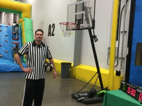 Shooting hoops with Matt Ladine—FreshPoint Central California—Family Fun Day