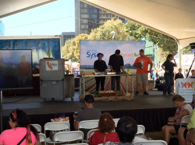 Students from ProStart on Demo Stage—FreshPoint Central California